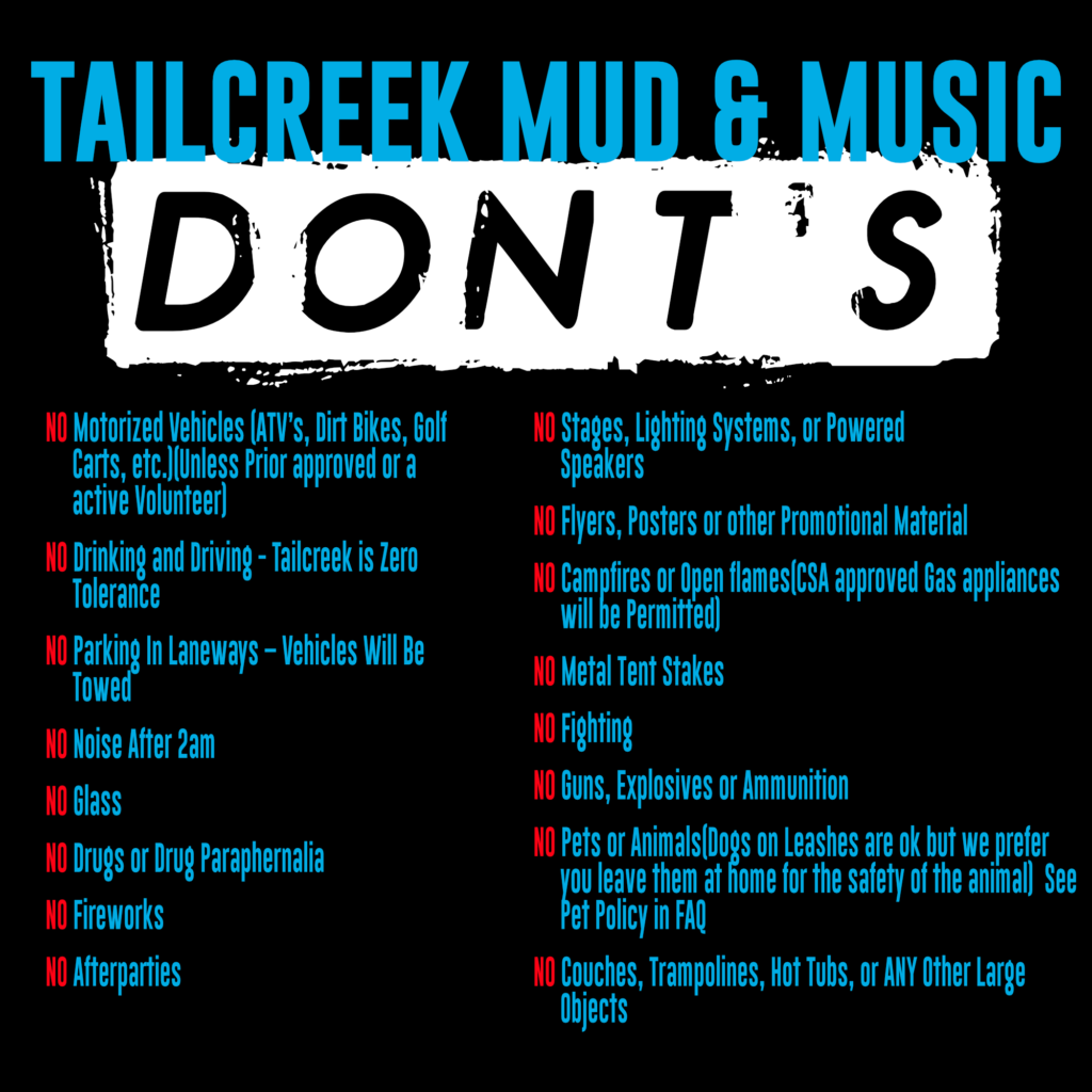 Tail creek donts 2